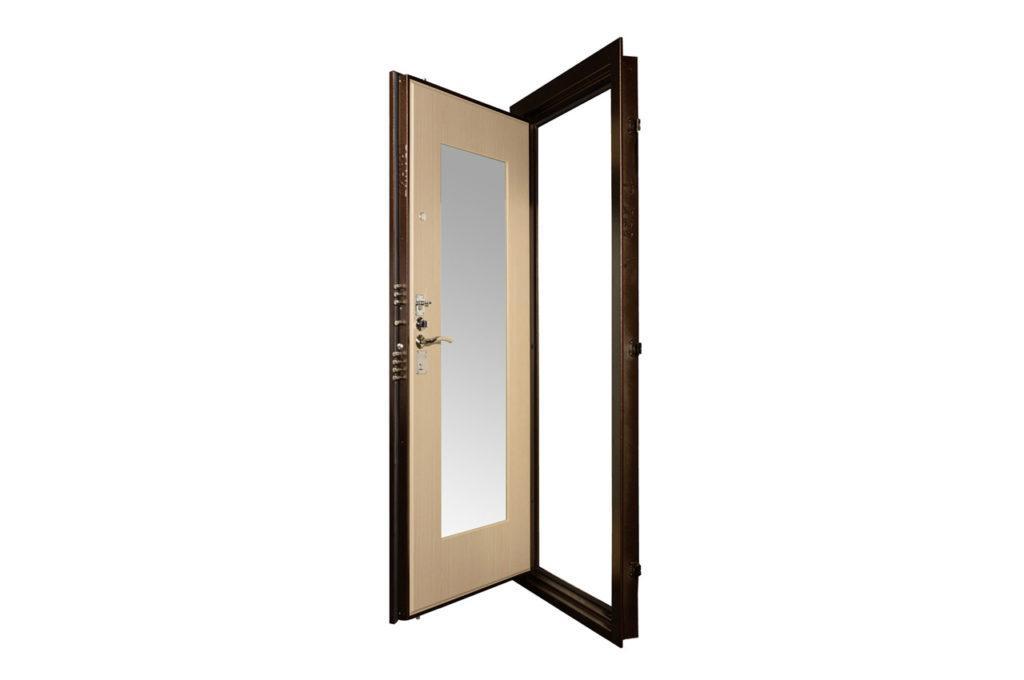 Дверь металлическая с зеркалом